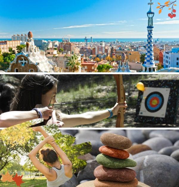 Colos en Espagne et colos multi activités tir à l'arc lors de nos colonies de vacances de l'automne Djuringa