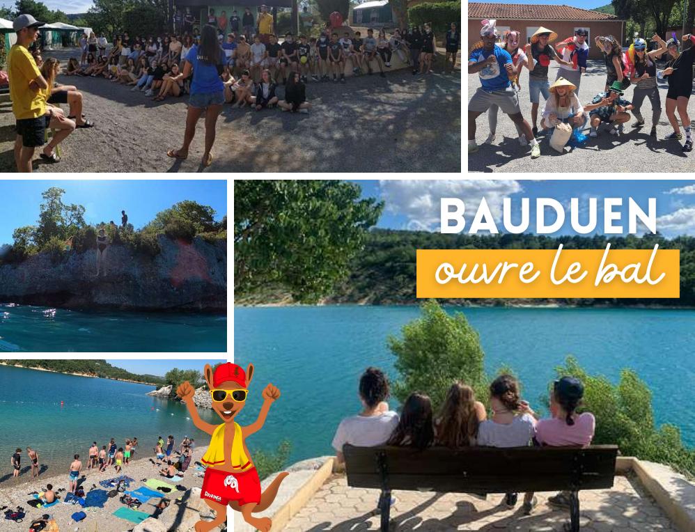 Photos des colonies de vacances à Bauduen cet été