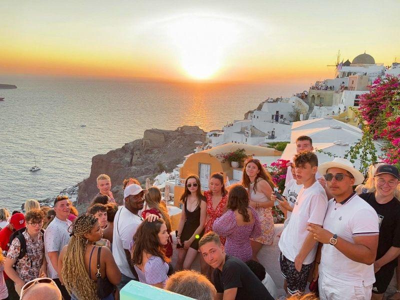 Coucher de soleil en colonie de vacances en Grèce