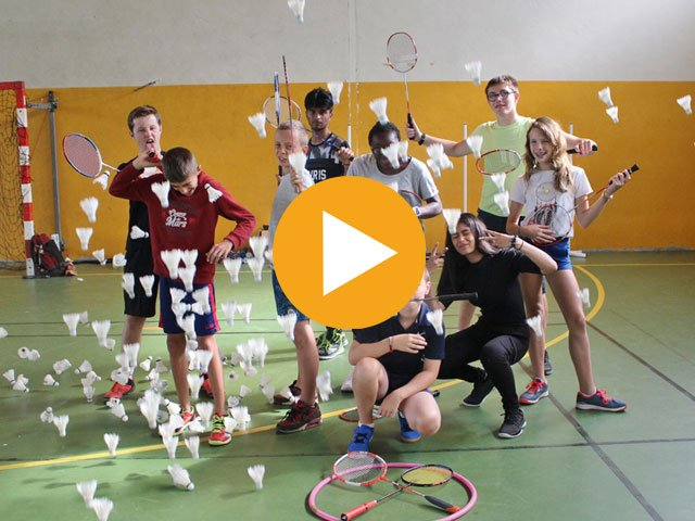 Colonie de vacances badminton