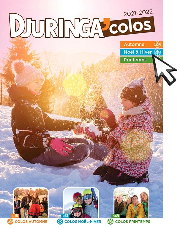 Catalogue de colonies de vacances printemps automne 2021 2022
