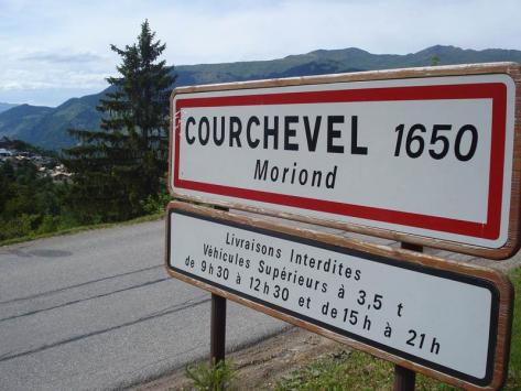 Panneau commune de Courchevel