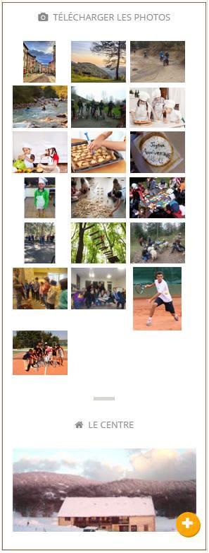 Téléchargement de photos depuis un blog de colonies de vacances