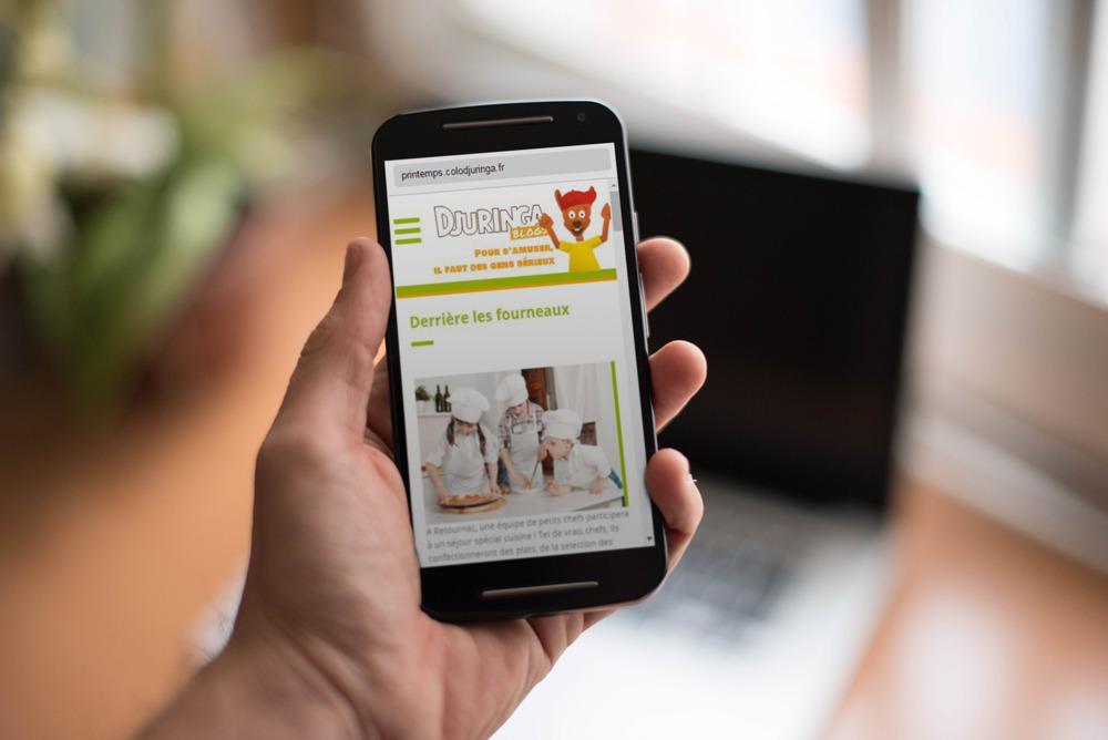 Blog de colonie, accessible depuis smartphones et tablettes