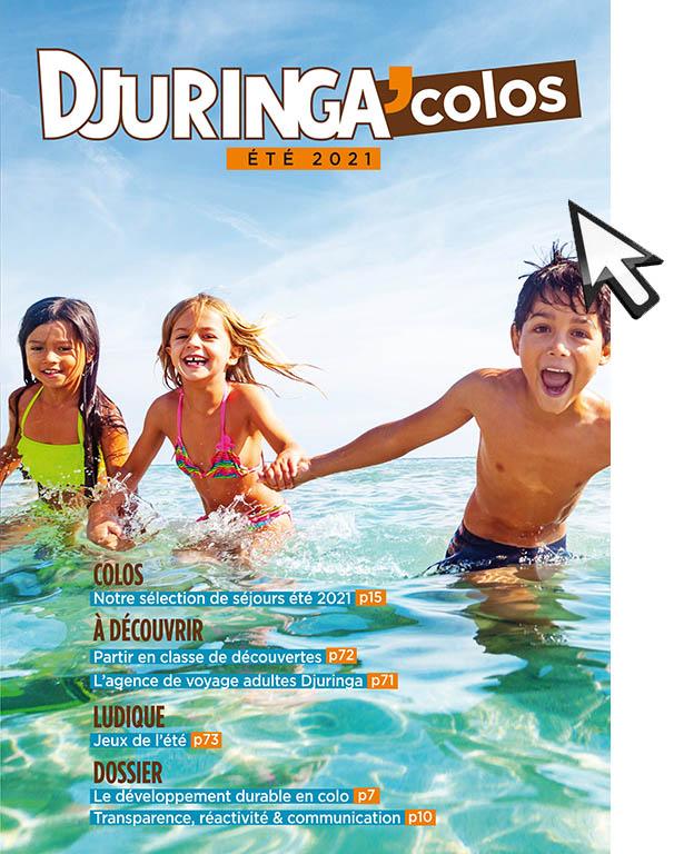 Couverture du catalogue de colonies de vacances Djuringa Juniors