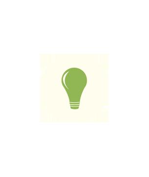 Logo d'une ampoule verte