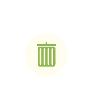 Logo tri sélectif vert