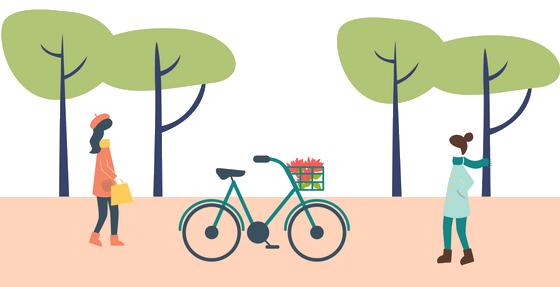 Colonie de vacances transport à vélo et à pied