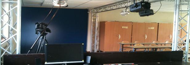 Studio cinéma d'un centre de vacances