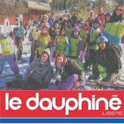 Groupe d'enfants en colo à Bellevaux