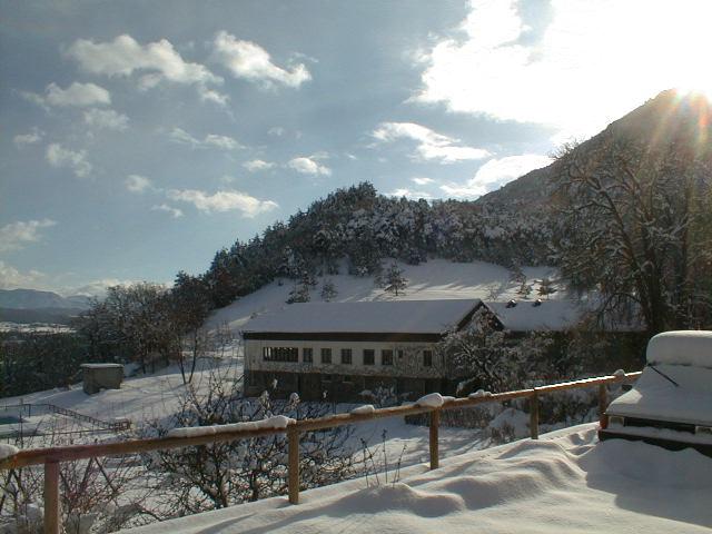Vue sur la station de ski du Martouret en colonie de vacances