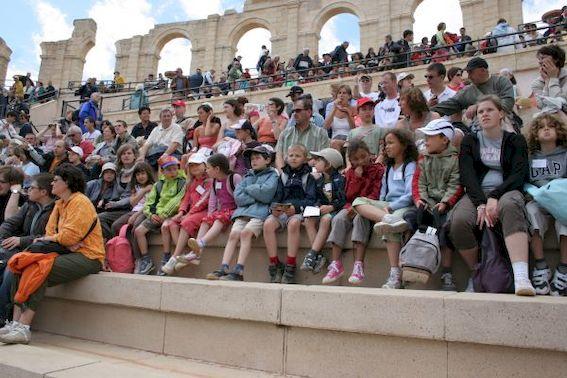 Enfants au Puy du fou en colonie de vacances